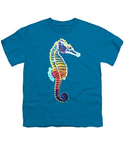 Rainbow Seahorse Youth T-Shirt