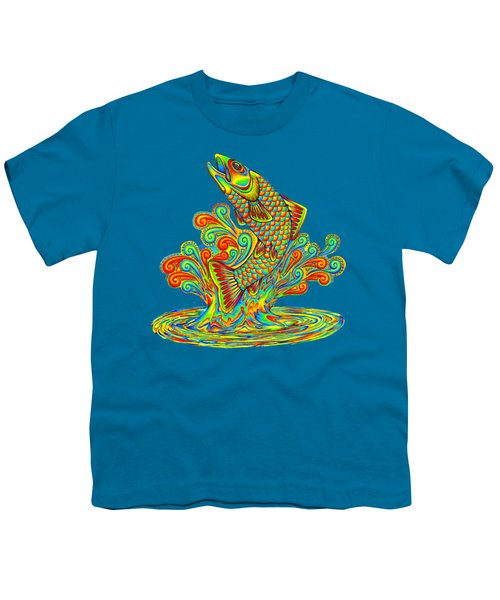 Rainbow Trout Youth T-Shirt by Rebecca Wang