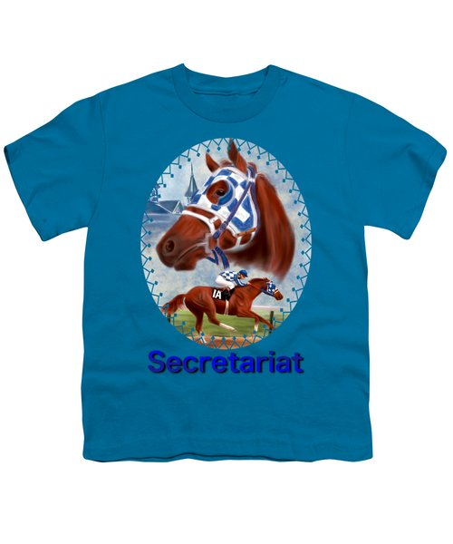 Secretariat Racehorse Portrait Youth T-Shirt