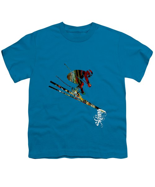 Skiing Collection Youth T-Shirt by Marvin Blaine