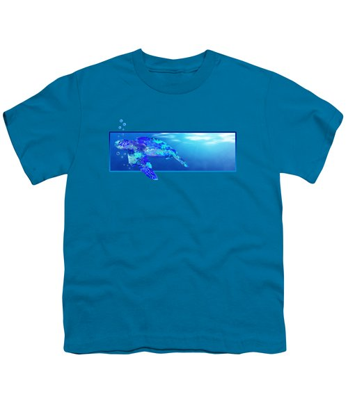 Underwater Sea Turtle Youth T-Shirt by Chris MacDonald