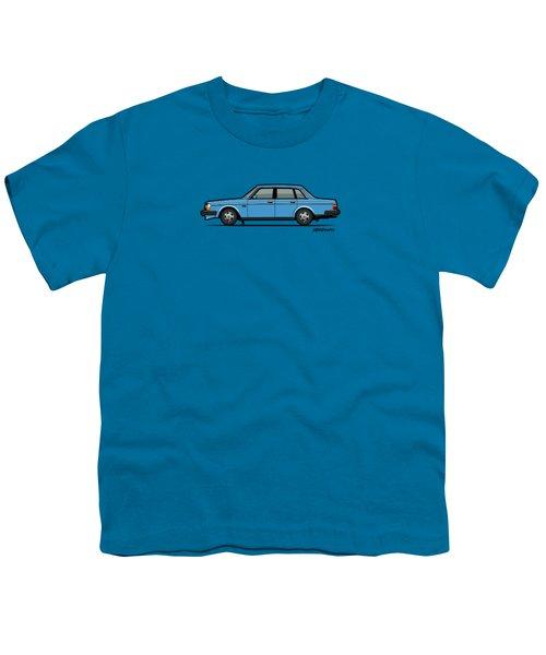Volvo Brick 244 240 Sedan Brick Blue Youth T-Shirt by Monkey Crisis On Mars