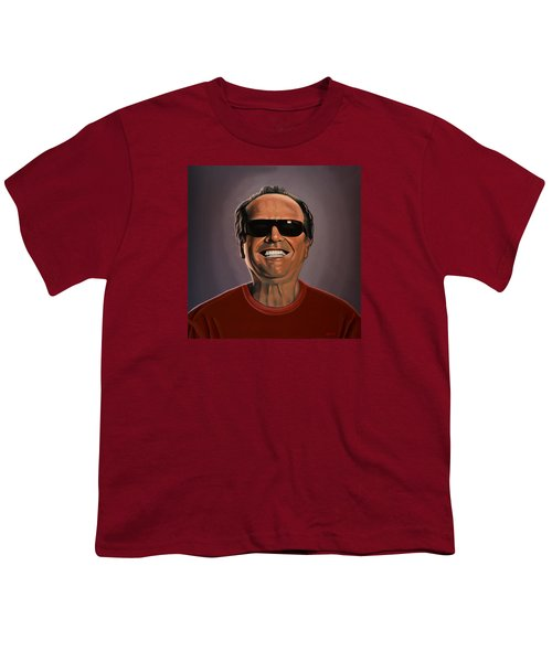 Jack Nicholson 2 Youth T-Shirt by Paul Meijering