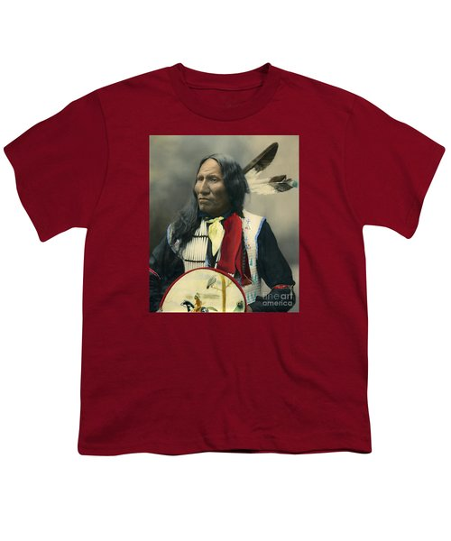 Oglala Chief Strikes With Nose 1899 Youth T-Shirt