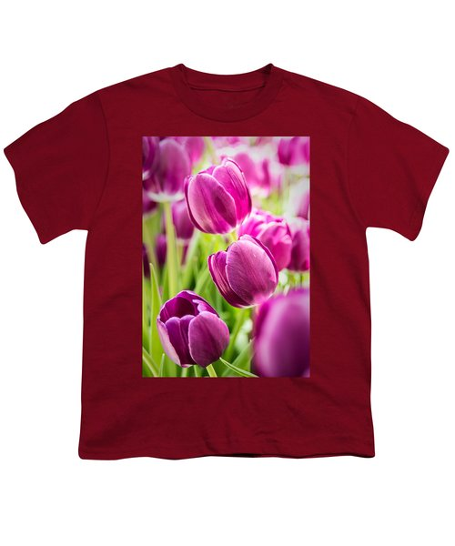 Purple Tulip Garden Youth T-Shirt