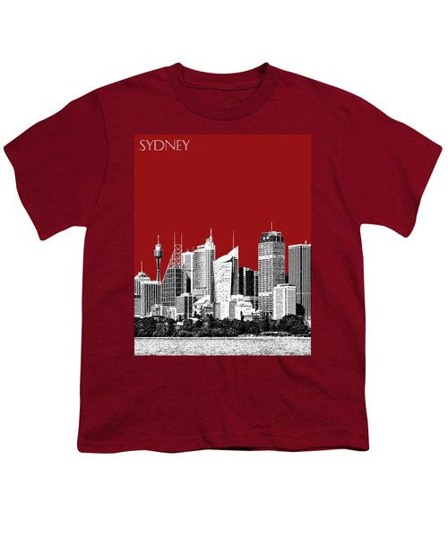 Sydney Skyline 1 - Dark Red Youth T-Shirt