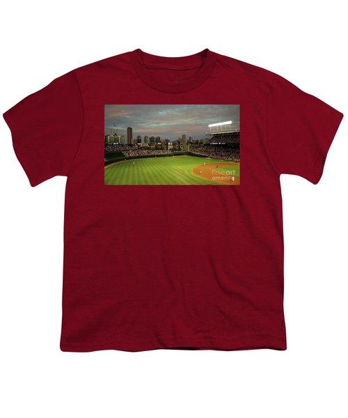 Wrigley Field At Dusk Youth T-Shirt