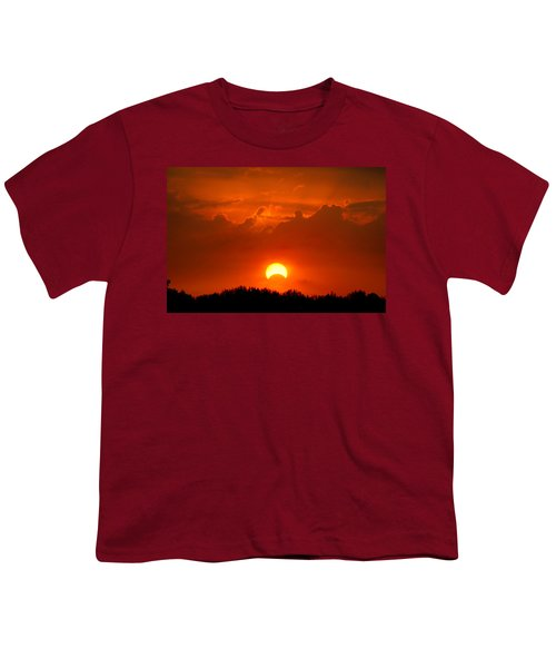 Solar Eclipse Youth T-Shirt by Bill Pevlor