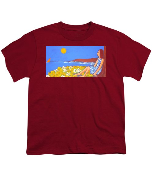 Youth T-Shirt featuring the painting A Quiet Place by Winsome Gunning