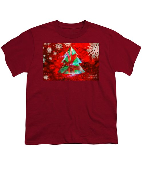 Abstract Christmas Bright Youth T-Shirt