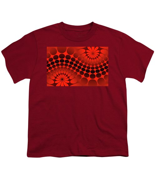 Abstract Red And Black Ornament Youth T-Shirt