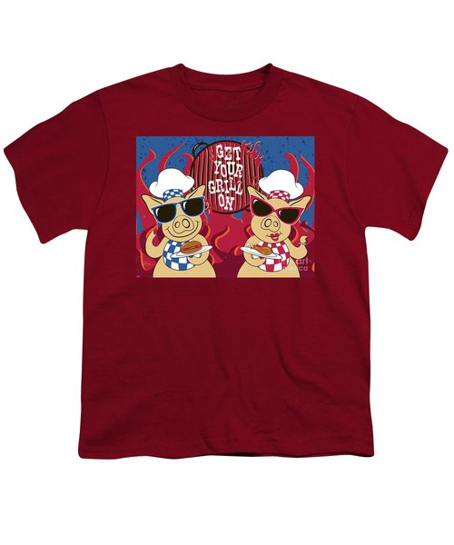 Barbecue Pigs Youth T-Shirt