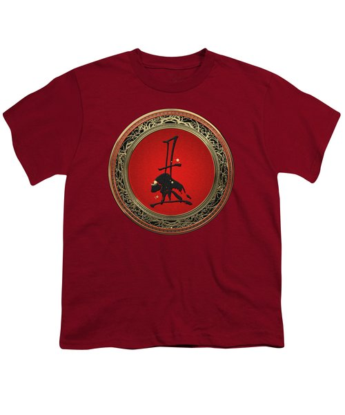 Chinese Zodiac - Year Of The Ox On Red Velvet Youth T-Shirt