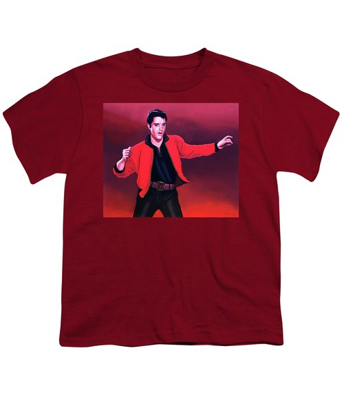 Elvis Presley 4 Painting Youth T-Shirt