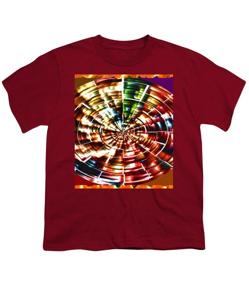 Energy Aura Cleaning Wheel In Motion Yoga Meditation Mandala By Navinjoshi At Fineartamerica.com Youth T-Shirt