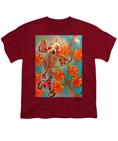 Focus Flower  Youth T-Shirt by Miriam Moran