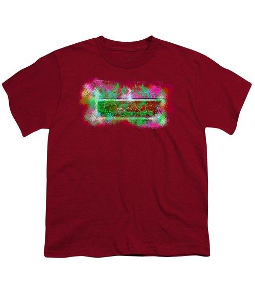 Forgive Brick Pink Tshirt Youth T-Shirt by Tamara Kulish