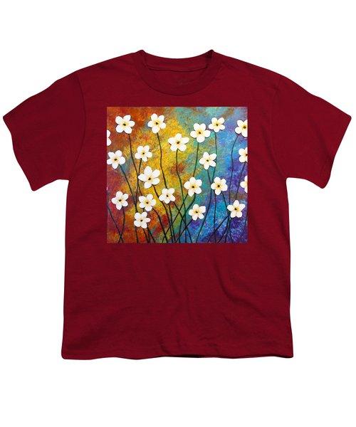 Frangipani Explosion Youth T-Shirt by Teresa Wing
