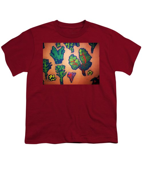 Youth T-Shirt featuring the painting From The Earth 2 by Winsome Gunning