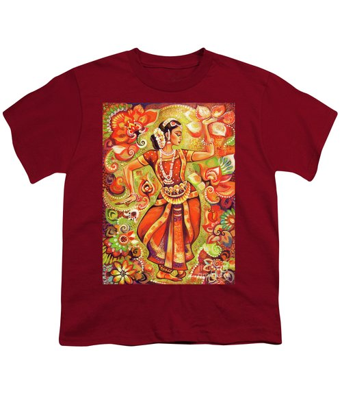 Ganges Flower Youth T-Shirt by Eva Campbell