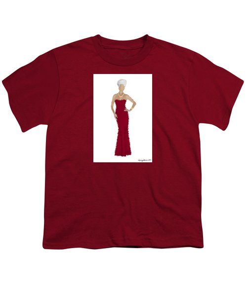 Youth T-Shirt featuring the digital art Garnet by Nancy Levan