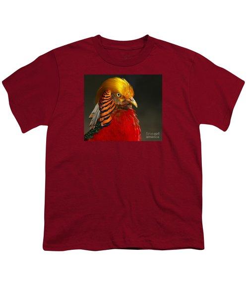 Golden Ornamental Pheasant Youth T-Shirt