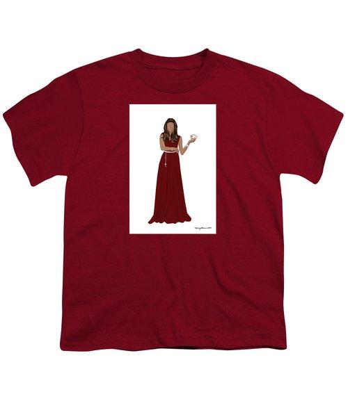 Youth T-Shirt featuring the digital art Hoda by Nancy Levan
