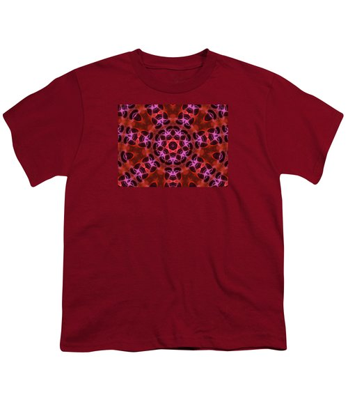 Kaleidoscope With Seven Petals Youth T-Shirt