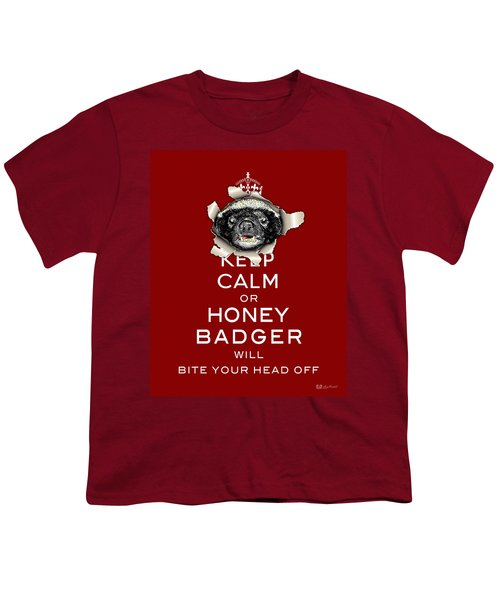 Keep Calm Or Honey Badger...  Youth T-Shirt