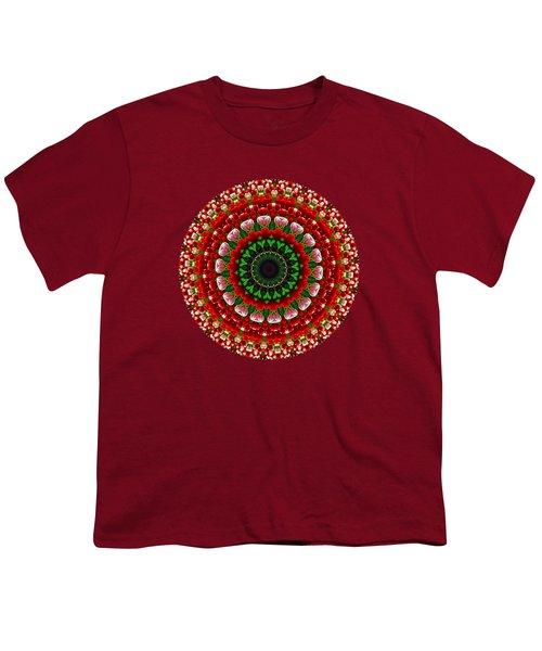 Mandala Tulipa By Kaye Menner Youth T-Shirt by Kaye Menner
