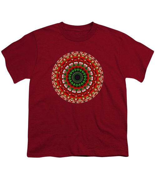 Mandala Tulipa By Kaye Menner Youth T-Shirt