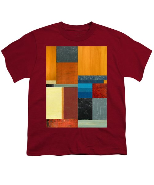 Youth T-Shirt featuring the painting Orange Study With Compliments 3.0 by Michelle Calkins