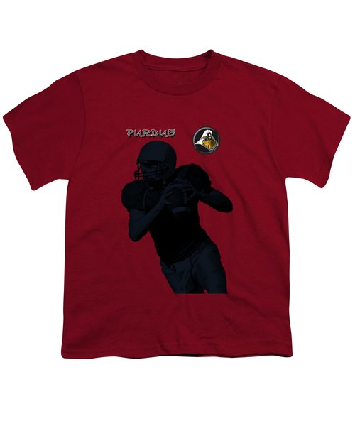 Purdue Football Youth T-Shirt by David Dehner