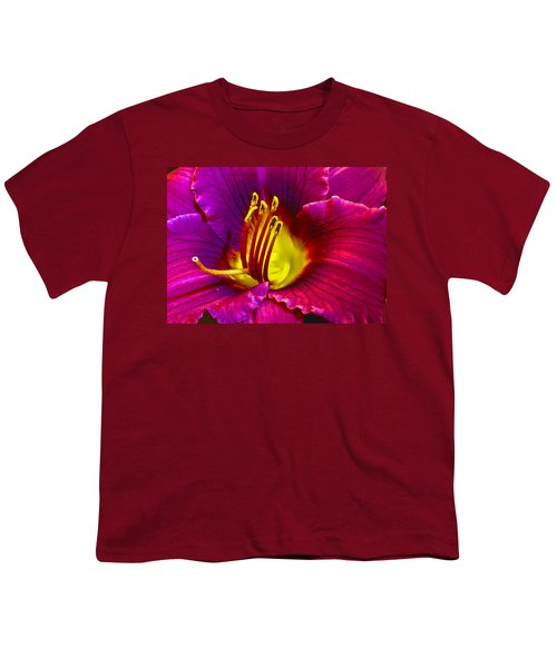 Youth T-Shirt featuring the photograph Purple Lily by Bill Barber