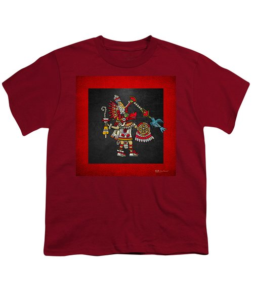 Quetzalcoatl - Codex Magliabechiano Youth T-Shirt by Serge Averbukh