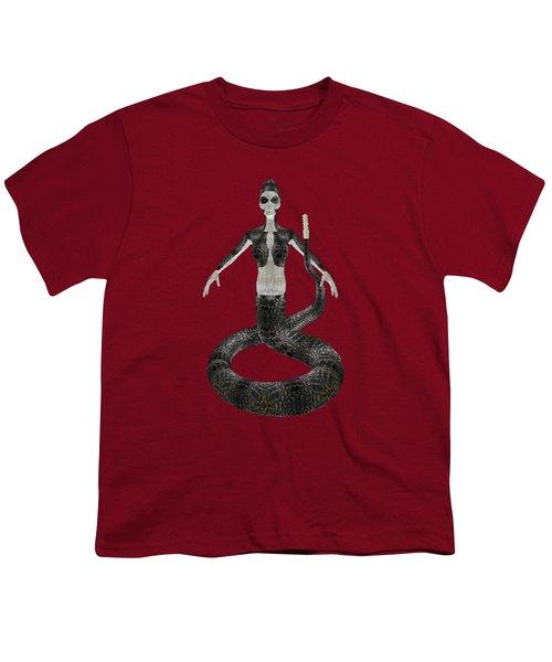 Rattlesnake Alien World Youth T-Shirt by Dora Hembree