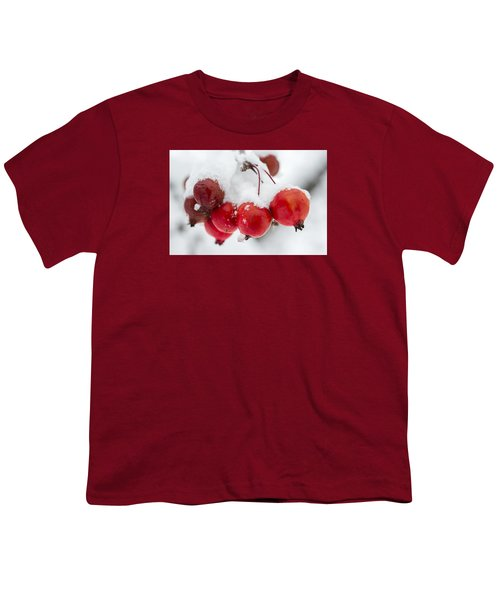 Youth T-Shirt featuring the photograph Red And White by Sebastian Musial
