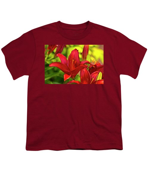 Red Lily Youth T-Shirt by Bill Barber