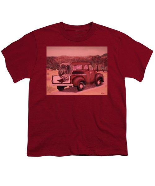 Ridin' With Razorbacks 3 Youth T-Shirt by Belinda Nagy