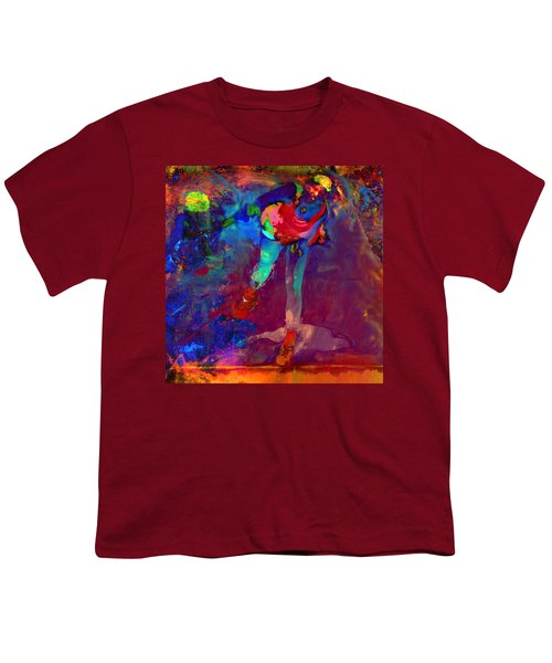 Serena Williams Return Explosion Youth T-Shirt by Brian Reaves