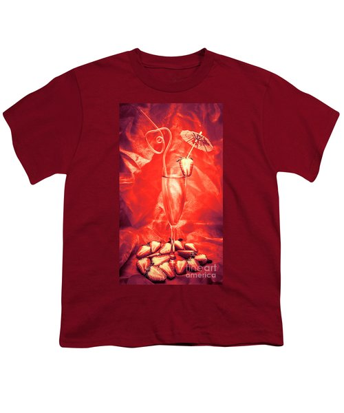 Straweberry Tropical Cocktail Drink Youth T-Shirt
