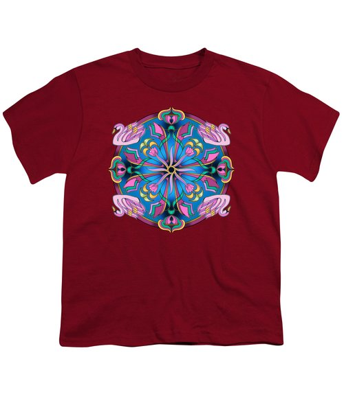 Swans Of Pink Youth T-Shirt by Mickey Flodin