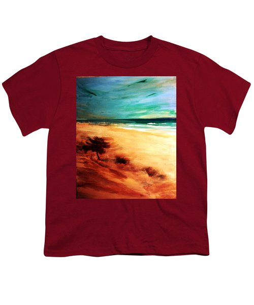 Youth T-Shirt featuring the painting The Remaining Pine by Winsome Gunning