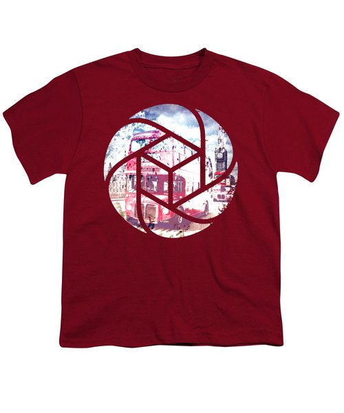 Trendy Design London Red Buses  Youth T-Shirt by Melanie Viola