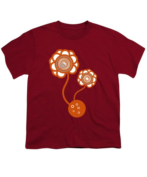 Two Orange Flowers Youth T-Shirt