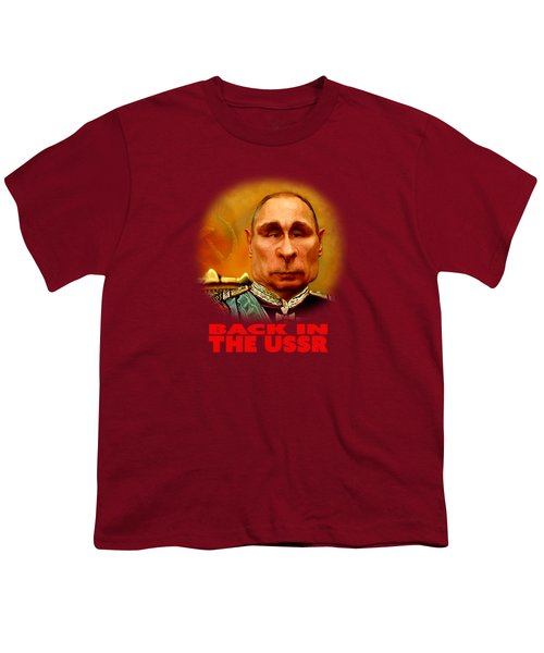 Vladimir Putin Youth T-Shirt by Hans Neuhart