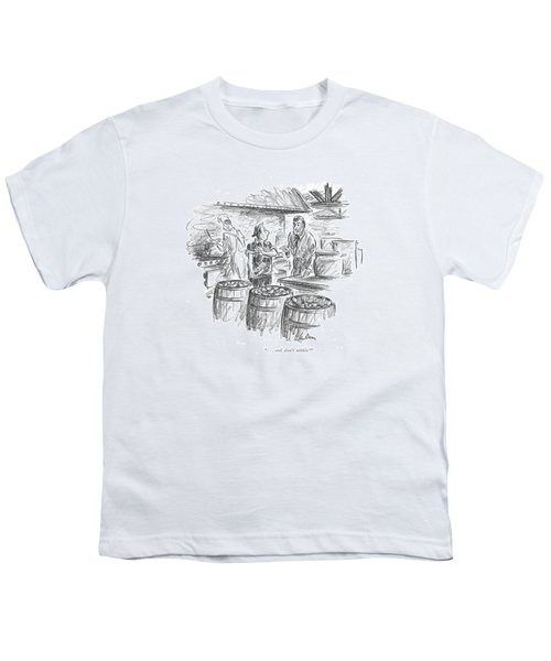 . . . And Don't Nibble! Youth T-Shirt by Alan Dunn