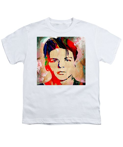 Youth T-Shirt featuring the mixed media Frank Sinatra Collection by Marvin Blaine