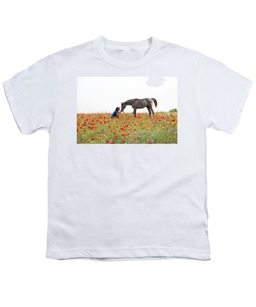Three At The Poppies' Field... 4 Youth T-Shirt by Dubi Roman