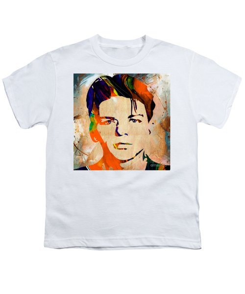 Youth T-Shirt featuring the mixed media Frank Sinatra Art by Marvin Blaine